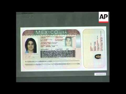 Mexican government shows new visa security measures