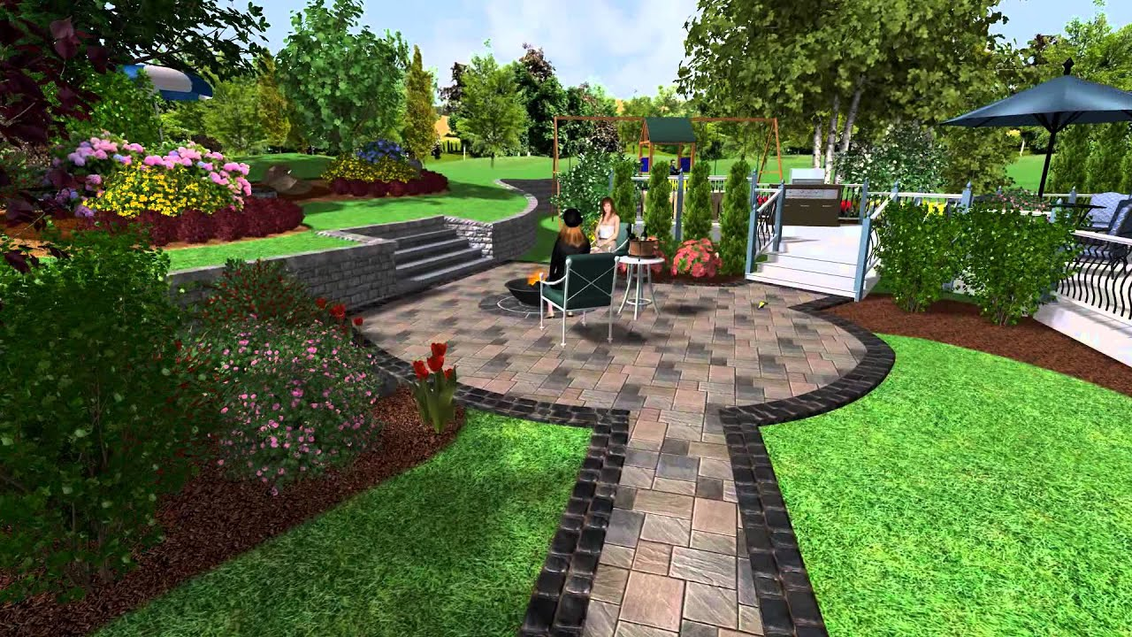 Outdoor Patio Design Pictures 1 Realtime Landscaping Plus Retaining Walls Youtube