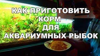 Готовим корм для рыбок. Проверка рецепта