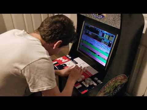 Allen playing Track and Field on an Arcade1up thanks to Berry Berry Sneaky PCB from Tony Bishop