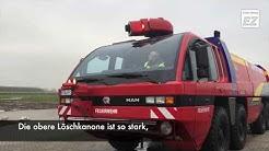 Der Flugplatz Emden hat ein neues Feuerlösch-Fahrzeug