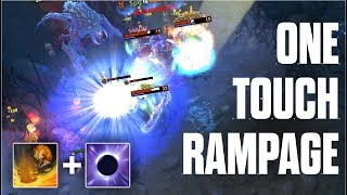 ONE TOUCH RAMPAGE - Echo Slam + Mana Void Anti Mage Rampage Comeback 7.06 - Dota 2
