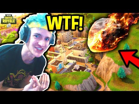NINJA REACTS TO METEOR DESTROYING TILTED TOWERS! *NEW* CITY (CARNAGE CRATER) Fortnite Moments