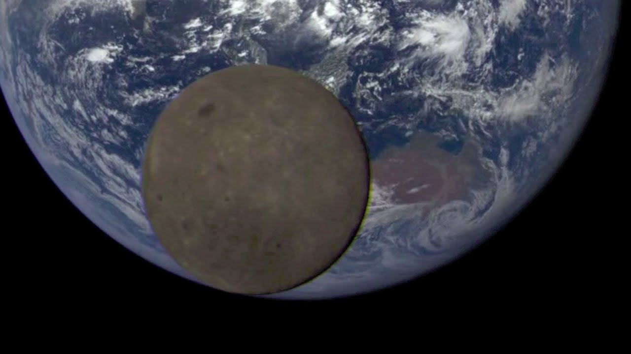 Satellite Catches The Moon Dancing In Front Of Earth Video YouTube - Satellite pictures of earth