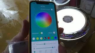 ХІТ! LED Люстра RGB з Вентилятором Bluetooth управління з iPhone!