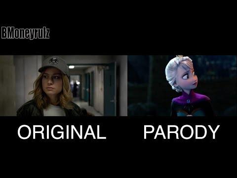 Disney / Pixar's CAPTAIN MARVEL Side-By-Side w/ Original Trailer