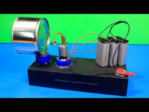 HOW TO MAKE VERY LOUD AND POWERFUL ALARM USING DC MOTOR - DC MOTOR LIFE HACKS