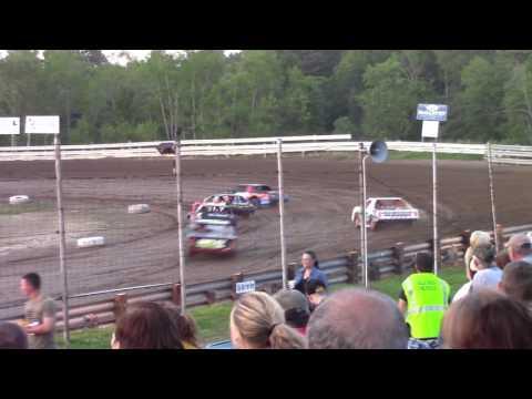 Hummingbird Speedway (6-10-17): Sunny 106.5 FM Pure Stock Heat Race #2