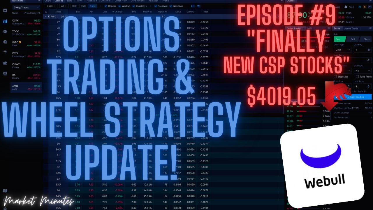 Download Cash Secured Puts on NEW Stocks! -  Webull Wheel Strategy Portfolio Update - Ep.9
