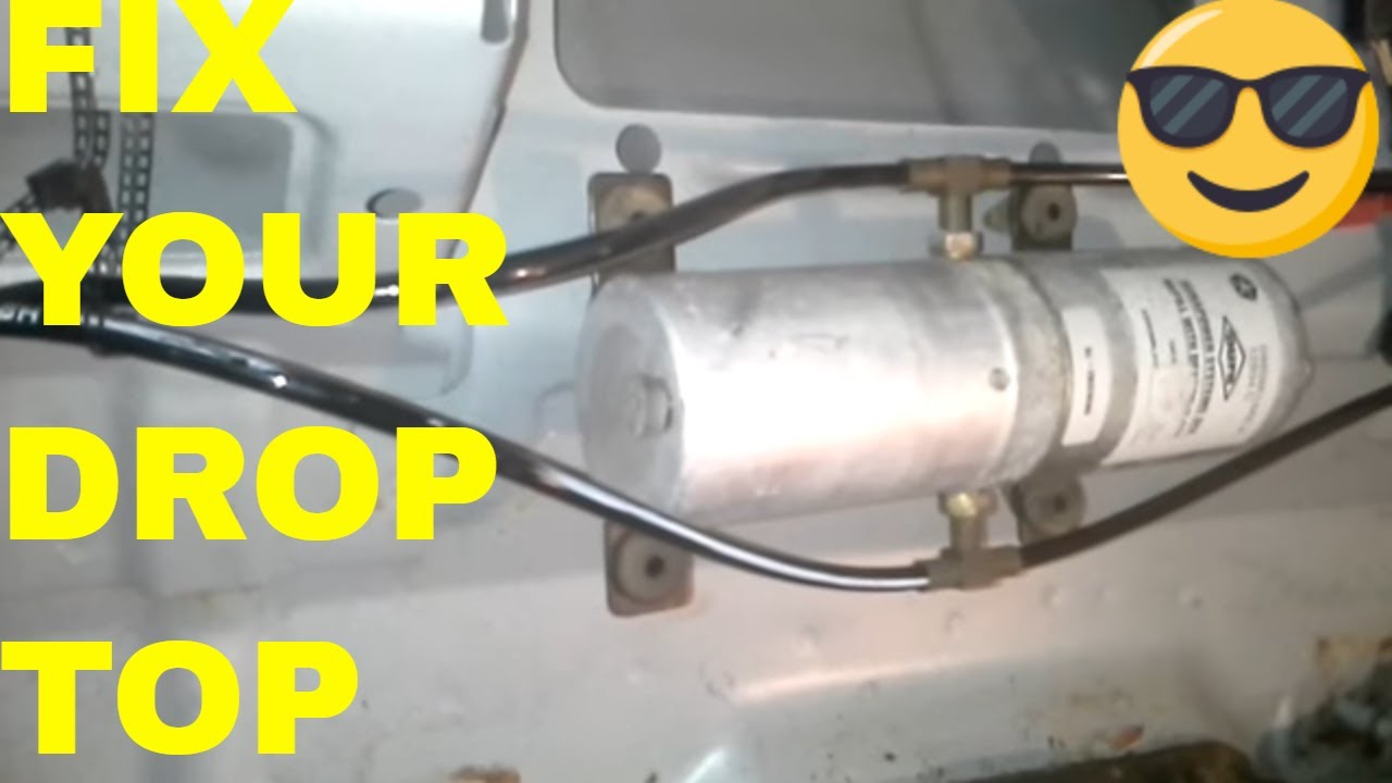 Fix Repair Chrysler Sebring Convertible Top Hydraulic Motor Fill
