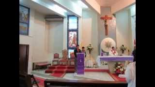 Father Jeff Aytona Saying Mass at St. Mary of Nazareth Church in Amman Jordan