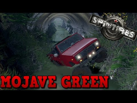 SpinTires | Blackwater Mojave Green | Map Mod | International Scout II