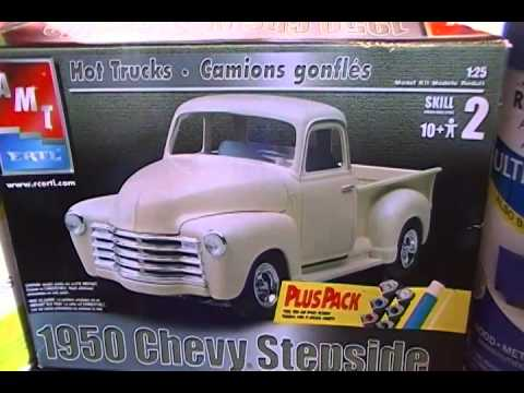 1950 Chevy Stepside Amt Plastic Model Kit Project Youtube
