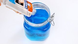 DIY Super Jiggly Bouncy Jelly Slime! Making Slime Backwards! Make Barrel O Slime without Guar Gum!