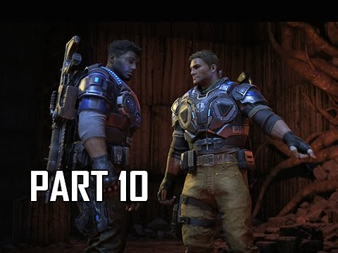 Gears of War 4 Walkthrough Part 10 - Elevator to Hell (Let's Play Gameplay Commentary)