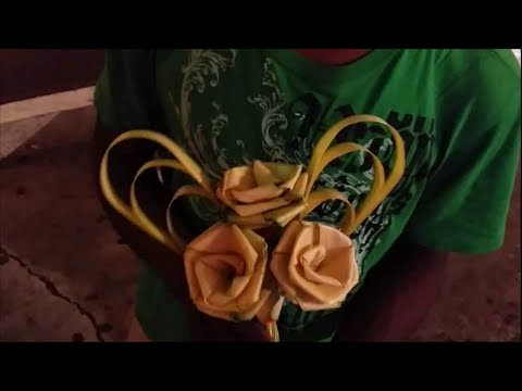 Turning Palm Leaf Into Flower Youtube