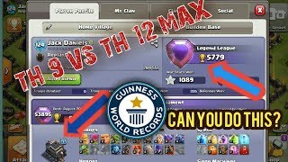 TOWNHALL 9 AT 5779 TROPHIES!!! WORLD RECORD | CLASH OF CLANS