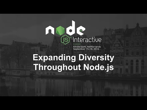 Expanding Diversity Throughout Node.js