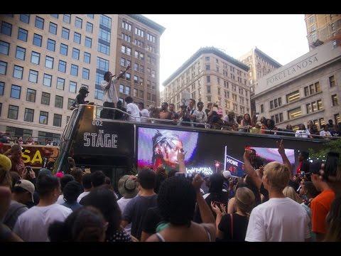 Видео: Joey Bada Premieres Devastated Video in NYC with DEVASTATEDBUS