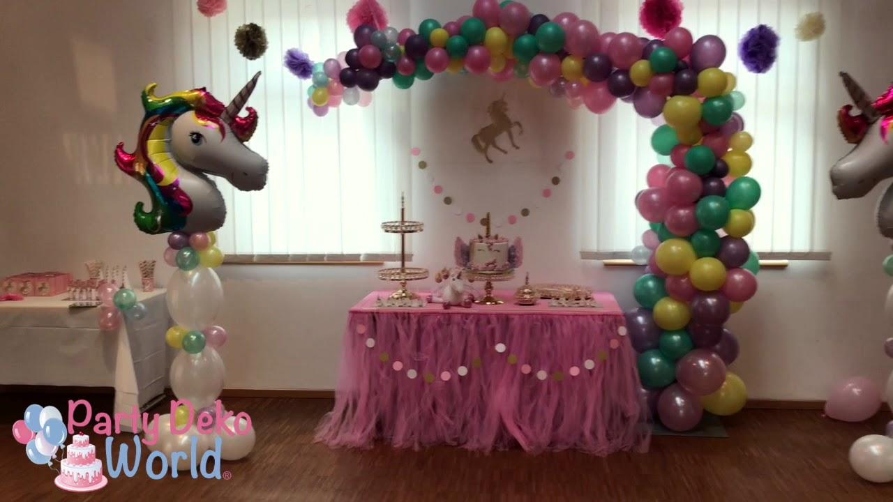 einhorn party by party deko world youtube. Black Bedroom Furniture Sets. Home Design Ideas