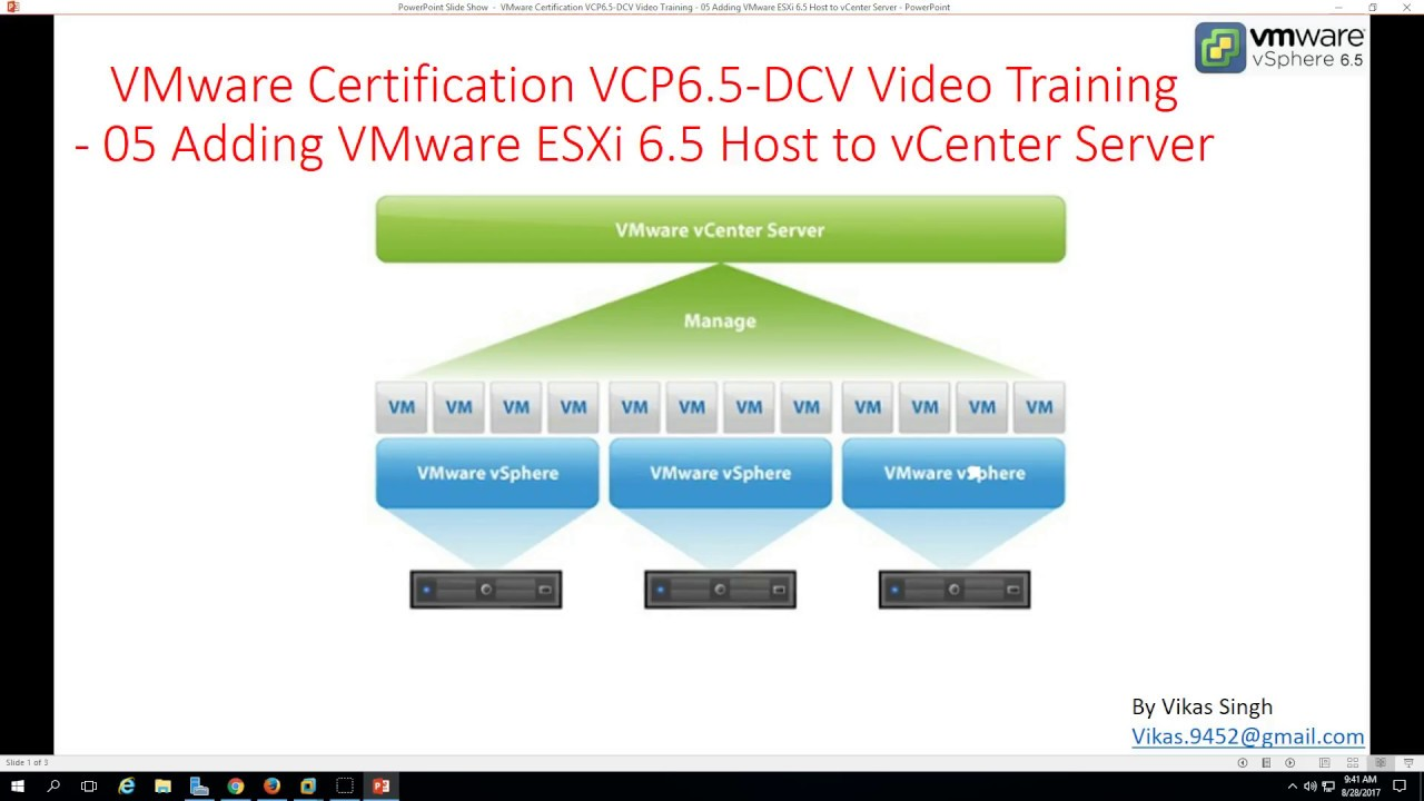 Vmware Certification Vcp 65 05 Adding Vmware Esxi 65 Host To
