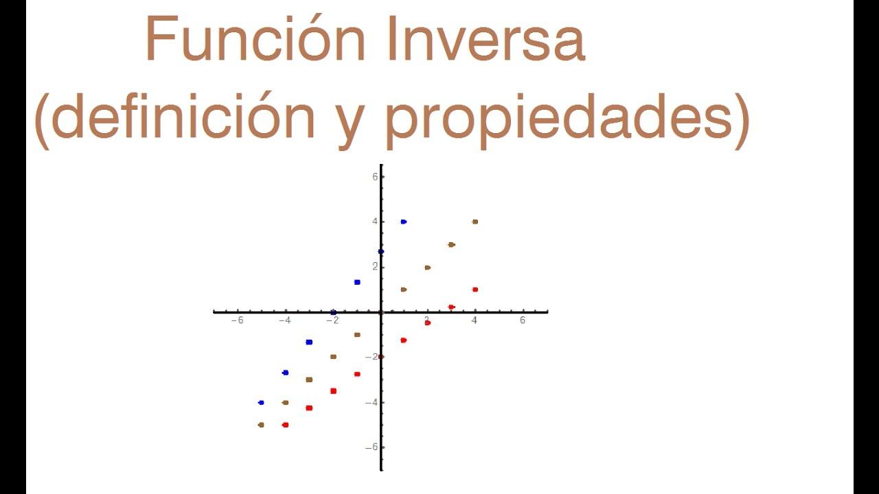 Funci n inversa definici n y propiedades youtube for Inmobiliaria definicion