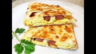 ОМЛЕТ-ПИРОЖОК за 10 мин. Сытный , Вкусный Завтрак.  Omelette - Pie. Tasty breakfast.