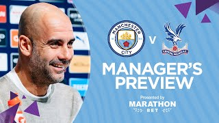 PRESS CONFERENCE | Pep Guardiola | Man City v Crystal Palace