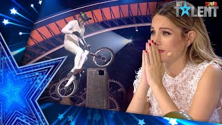 This contestant falls with his BICYCLE but triumphs | Semifinal 01 | Spain's Got Talent 2021