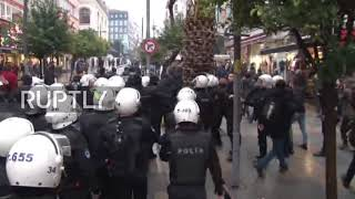 Turkey: Scuffles erupt as pro-Kurdish protesters gather in Istanbul