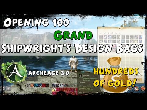 ArcheAge - Opening 100 Grand Eonan Shipwright's Design Bags
