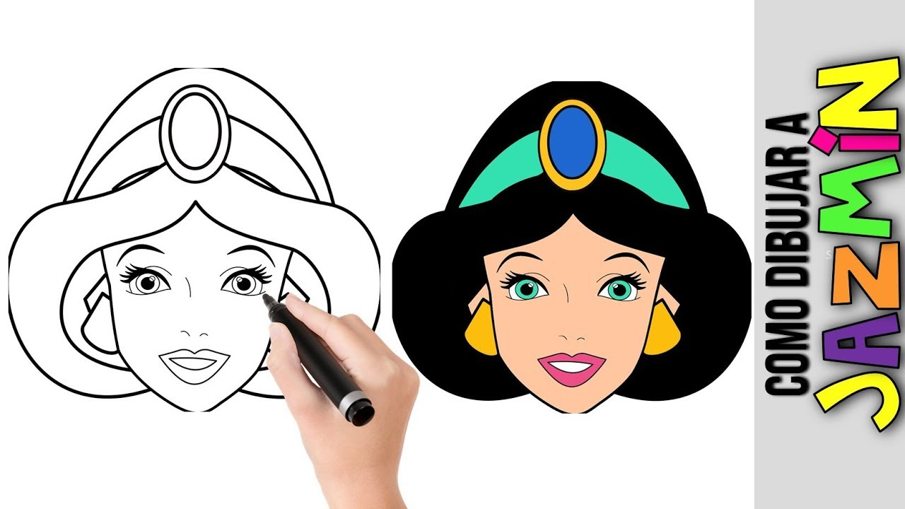 Como Dibujar A Jazmin Princesa De Disney Dibujos Fáciles Para Dibujar Paso A Paso Muñecas