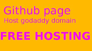 How to host a custom domain free forever with github page?