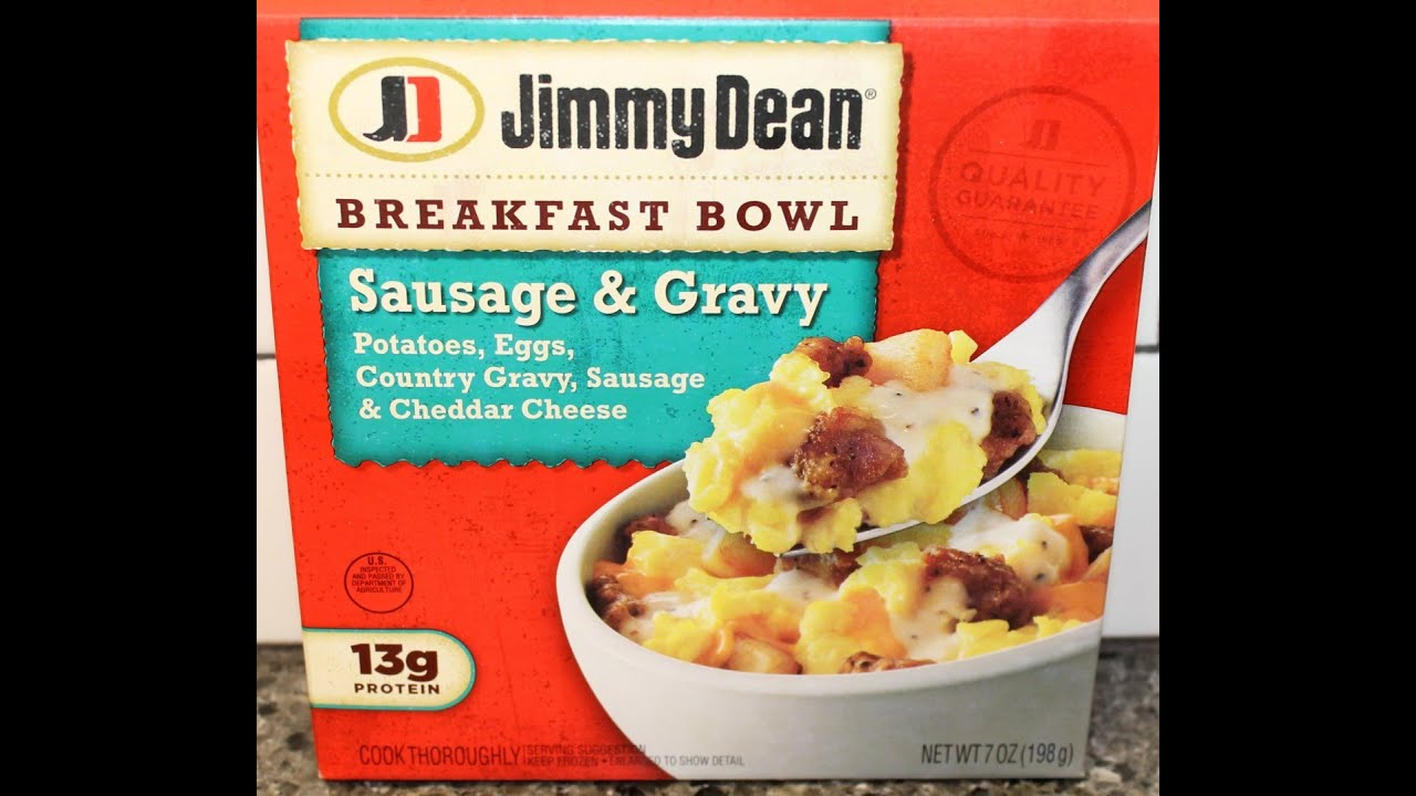 Jimmy Dean Sausage & Gravy Breakfast Bowl Review - YouTube