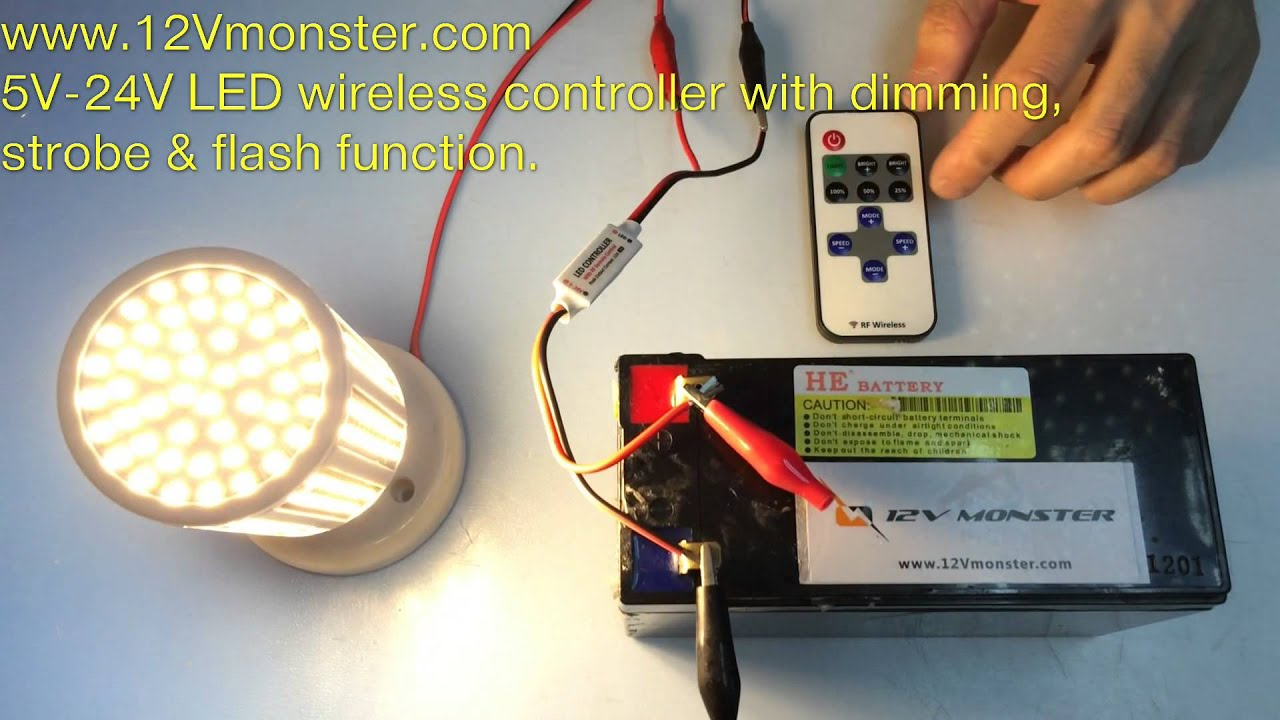 12vmonster 5v 24v Wireless Led Strobe Flash Power On Off