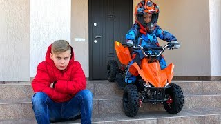 Тестирую электро квадрик!!!  I'm testing an electric quad bike!!!