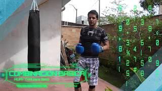 ¿Cómo GOLPEAR EL SACO DE BOXEO? -  Combinación de 2 golpes básico en costal - Muay thai