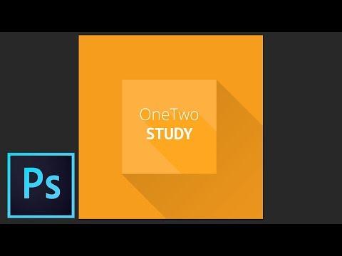 Урок Photoshop: Как создать плоский логотип. Flat Long Shadow Onetwostudy