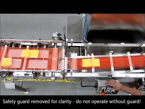 High-speed 2:1 merge conveyor