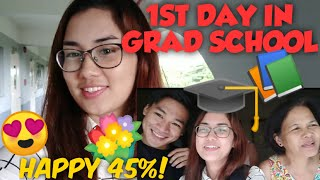 first day in graduate school | Carrie David