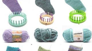 Beginner Loom Knit Course, House Socks heel to cast off