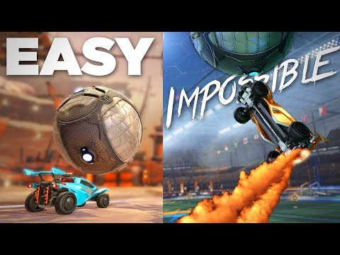 Learning 10 New Rocket League Skills From EASY To IMPOSSIBLE