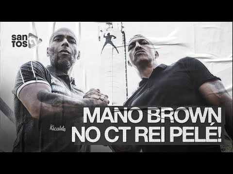 MANO BROWN VISITA O CT REI PELÉ!