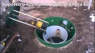 Монтаж автономной канализации Alta Bio Септик Профи(, 2016-04-01T09:12:22.000Z)