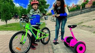 Прогулка на велосипеде. СПУСТИЛО КОЛЕСО! Новая серия для детей
