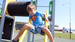 Playground Fun on The Way - Family Trip