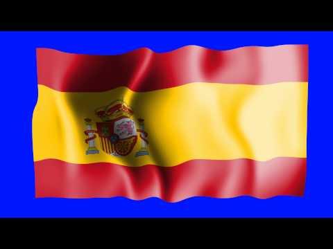Spain Waving Flag - Free HD Green Screen Animation
