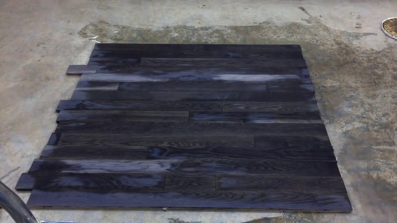 Time Lapse Turn White Oak Weathered Charcoal In Minutes