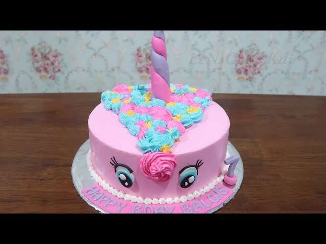 Decorating Birthday Cake For Kids Happy Birthday Cake My Little Pony Cake Tart Youtube