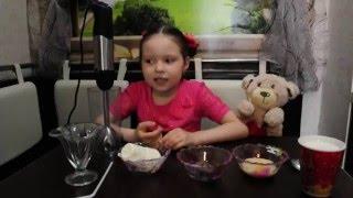 Даша и Умка готовят необычный молочный коктейль Баунти